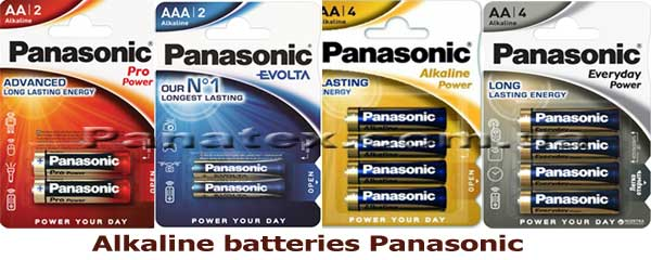 Alkaline batteries Panasonic