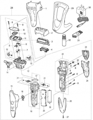 panasonic-ES-ST25-parts