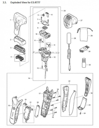 Parts List for ES-RT77